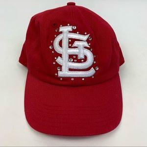 PINK St. Louis Cardinals red baseball cap